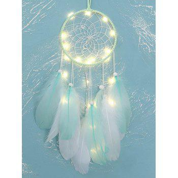 Handmade Beaded Feather LED Light Dream Catcher
