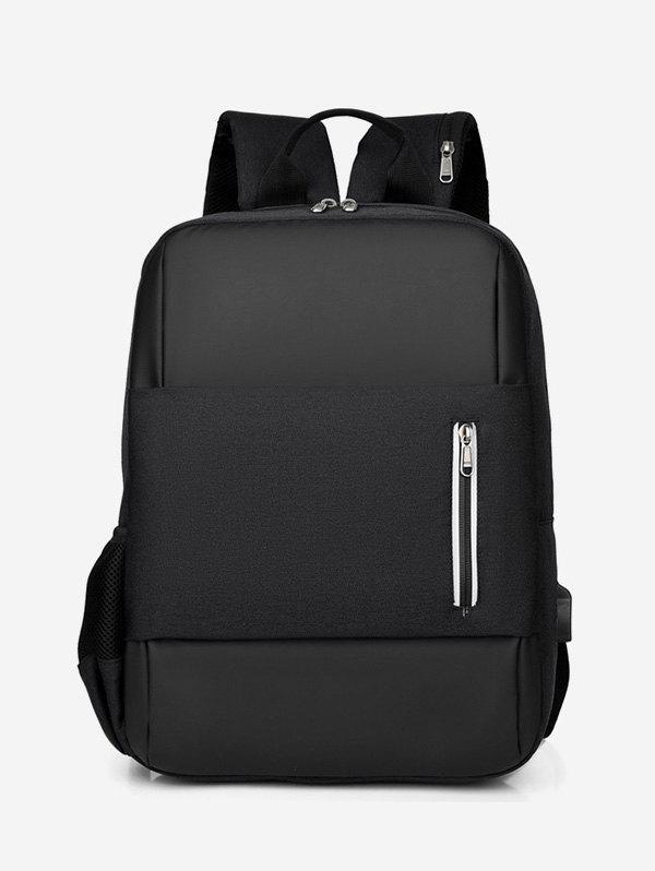 Large Capacity Top Handle Business Backpack - BLACK