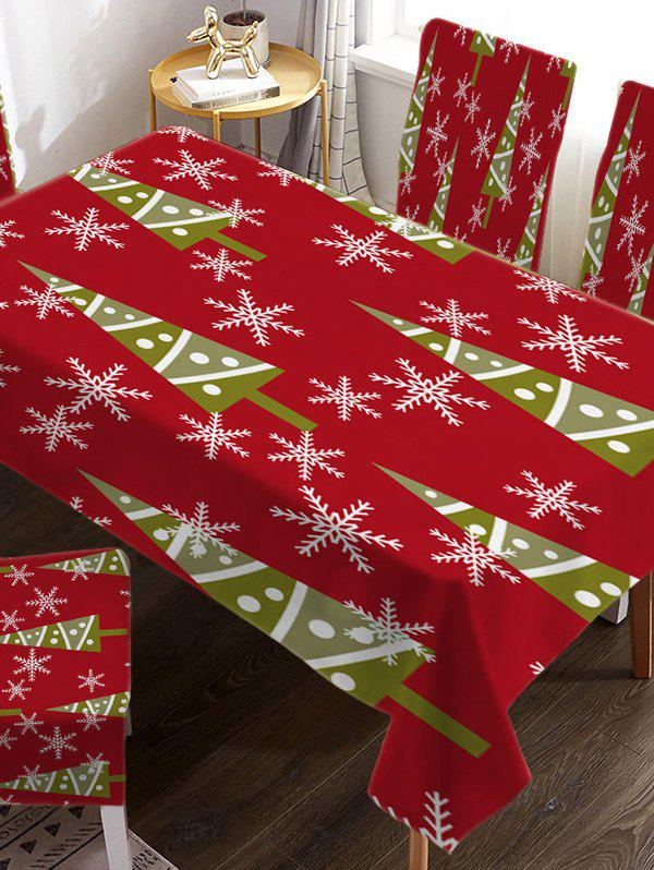 Nappe de Table de Noël Design Imperméable en Tissu - multicolor A W55 X L71 INCH