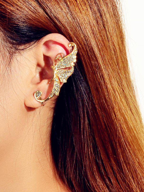 1PC Rhinestoned Butterfly Ear Cuff