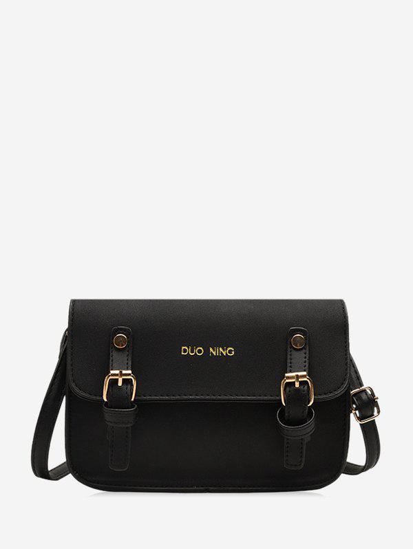 Casual Messenger Shoulder Bag - BLACK