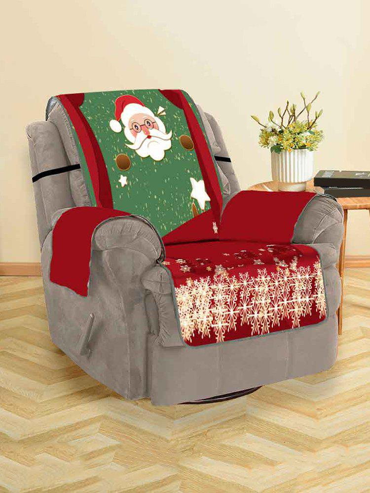 Christmas Santa Claus Couch Cover - multicolor SINGLE SEAT