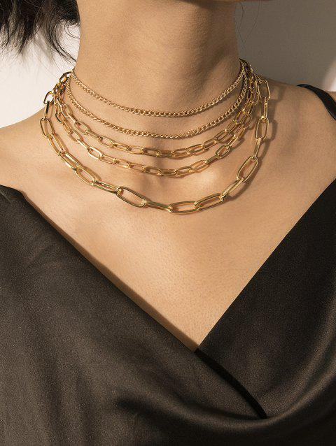 Brief Multilayered Link Chain Necklace
