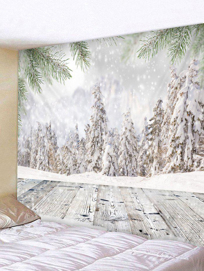 Christmas Snow Pattern Tapestry - multicolor A W59 X L59 INCH