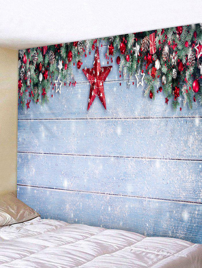 Christmas Snow Pattern Tapestry - multicolor D W71 X L91 INCH