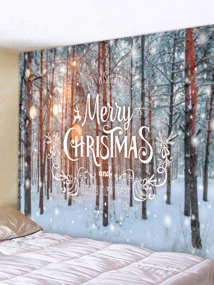 Christmas Snow Pattern Tapestry - multicolor C W71 X L91 INCH