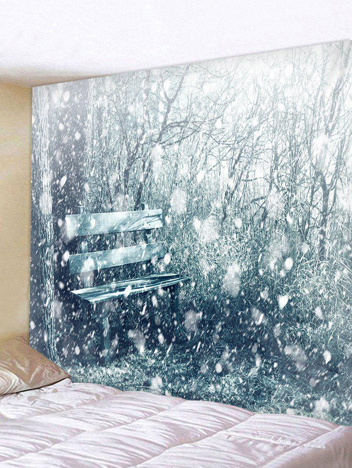Christmas Snow Pattern Design Tapestry - SILVER W79 X L59 INCH
