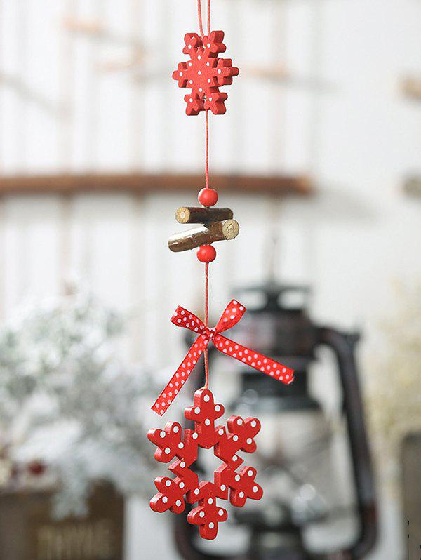 Wooden Christmas Tree Hanging Decoration - multicolor E