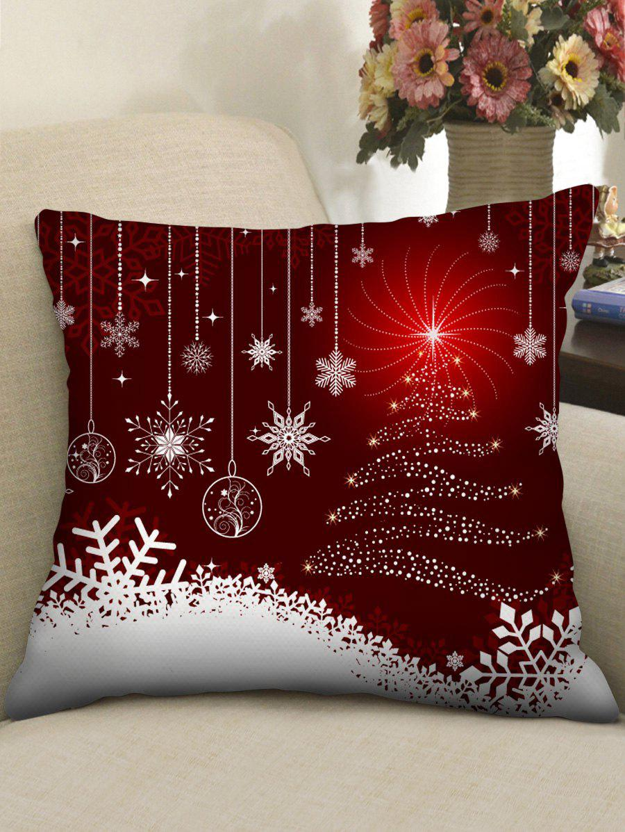 Christmas Print Throw Pillow Case - multicolor A W18 X L18 INCH