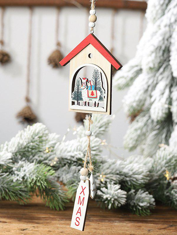 Merry Christmas Tree Sheep Decoration - RED