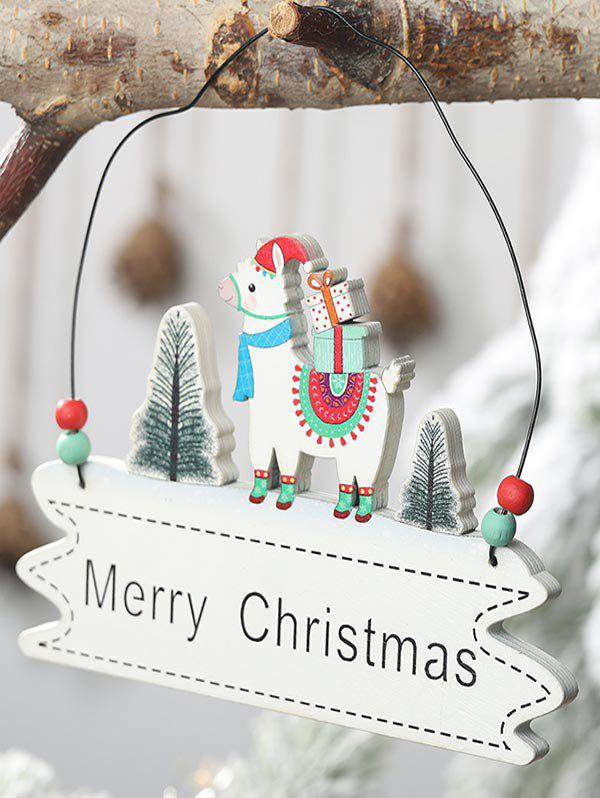 Merry Christmas Tree Sheep Hanging Decoration - multicolor B