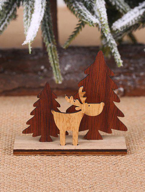 Wood Christmas Decorations.Christmas Decoration Diy Tree And Elk Shape Wooden Ornaments