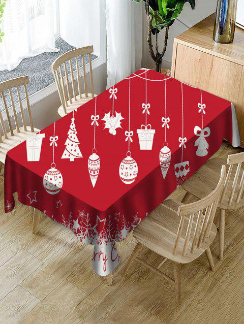 Christmas Tree Gift Bell Fabric Waterproof Table Cloth