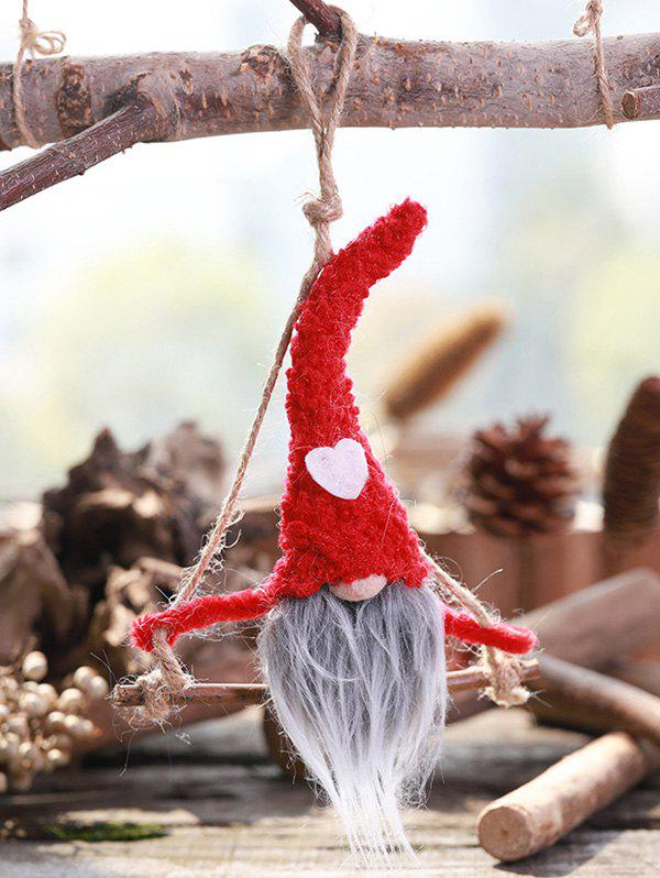 Christmas Ornaments Heart Faceless Hanging Doll - RED