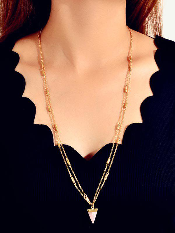 Collier Long Triangle Pendant - Or