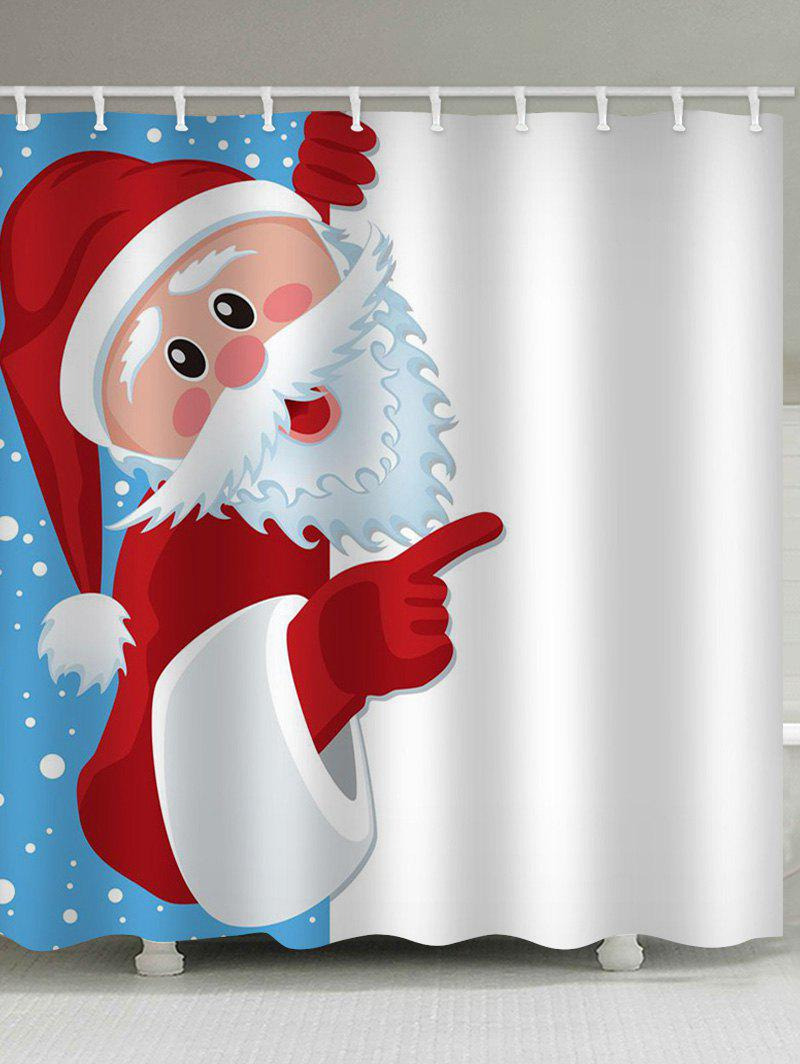 Father Christmas Waterproof Shower Curtain