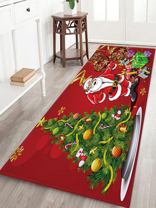 Father Christmas Tree Gift Floor Rug - multicolor W24 X L71 INCH