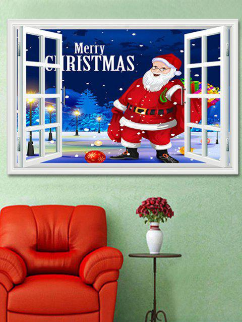 Christmas Santa Claus Window Print Decorative Wall Art Sticker