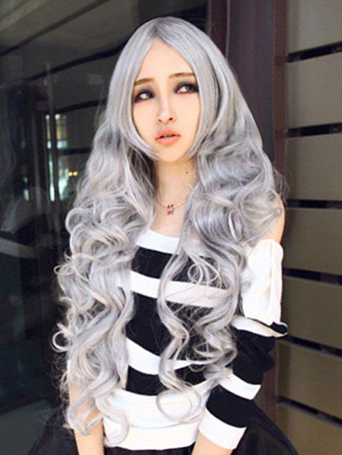 Chic Cosplay Synthetic Long Curly Wig - GRAY