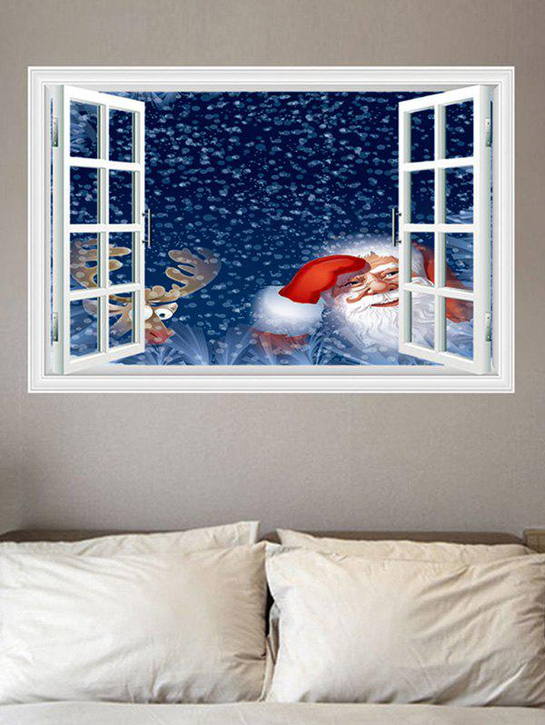 Father Christmas Window Pattern Wall Sticker фото
