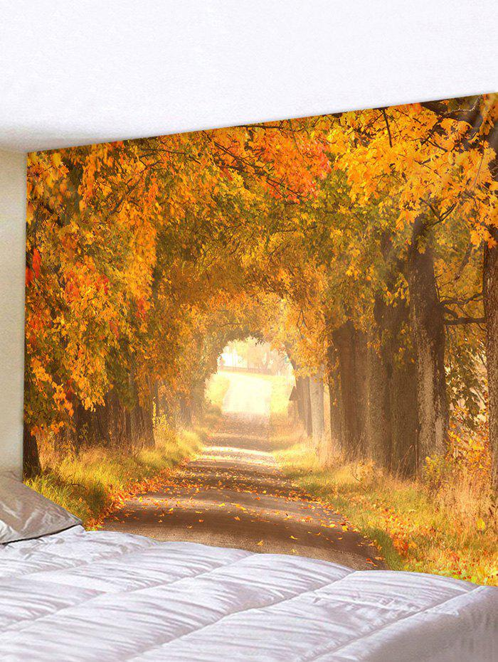 Autumn Tree Leaves 3D Print Wall Tapestry - multicolor W59 X L51 INCH