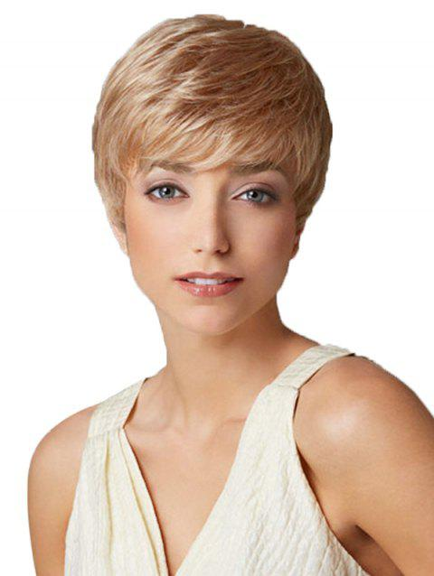 Synthetic Short Straight Wig - CHAMPAGNE GOLD 6INCH
