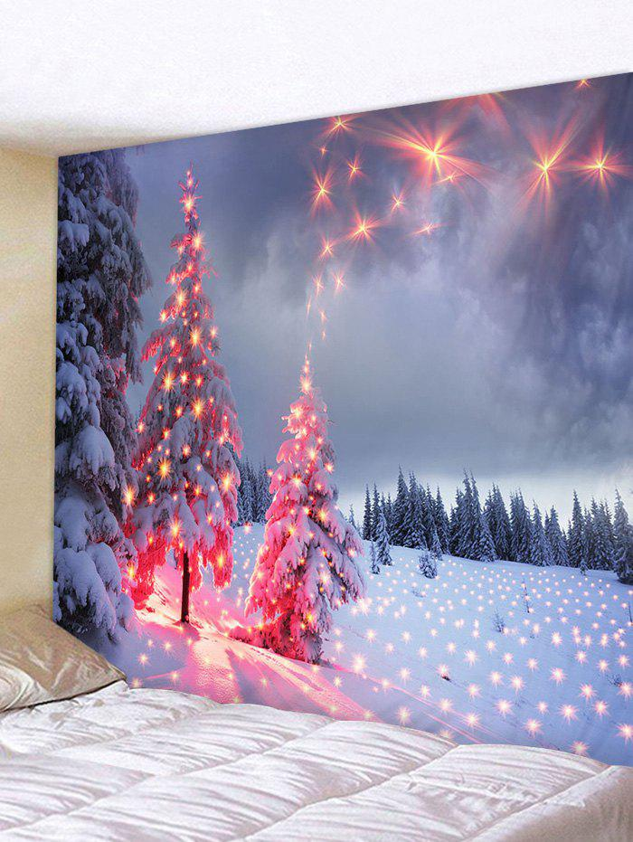 Christmas Snow Firework Pattern Tapestry - multicolor W79 X L71 INCH