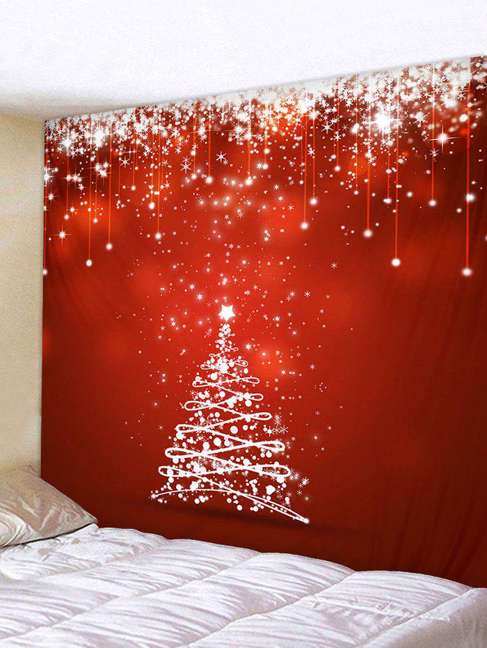 Christmas Tree Snowflake Pattern Tapestry - multicolor W59 X L51 INCH