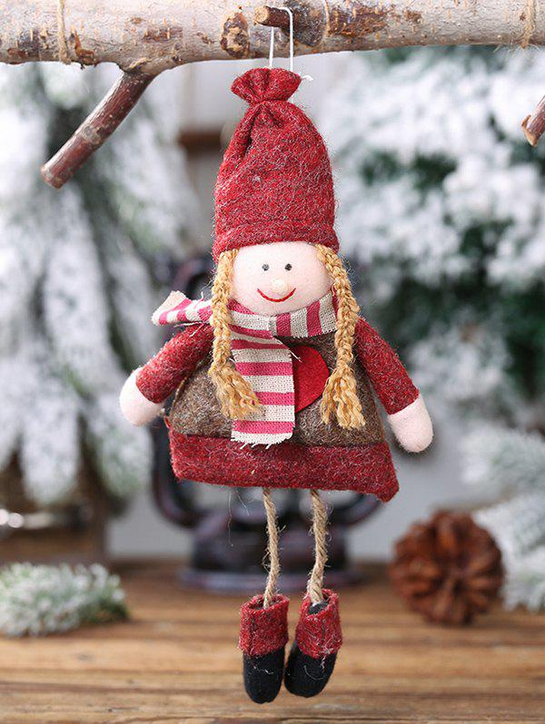 Christmas Tree Hanging Decoration Girl Doll - RED