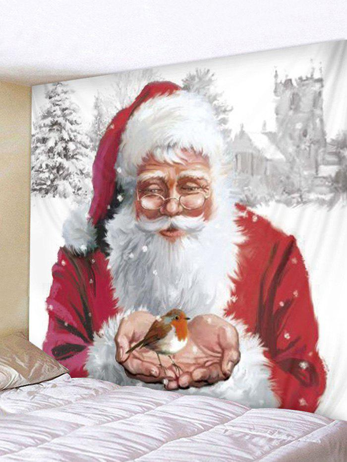 Father Christmas Pattern Tapestry - multicolor W79 X L59 INCH
