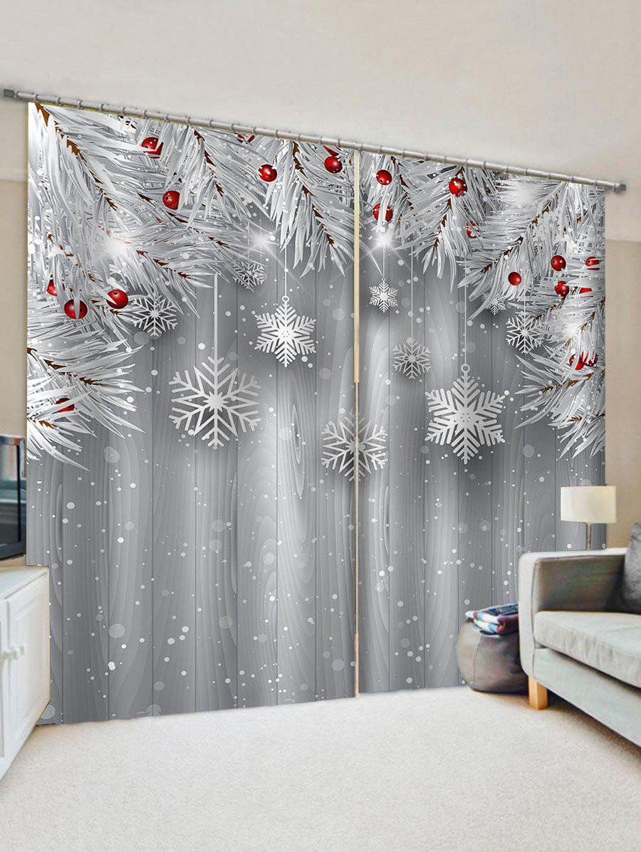 32 Off 2020 Christmas Snowflake Window Curtains In Multicolor Dresslily