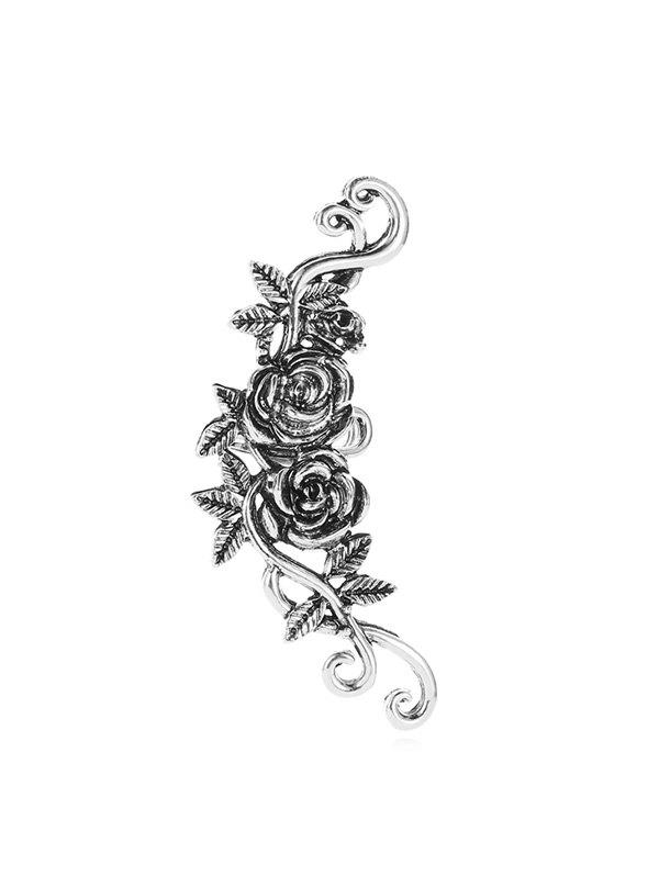 1 Pc Flowers and Leaves Shape Cuff Earring - SILVER