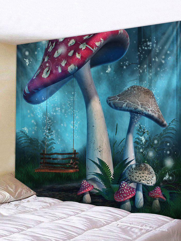 Abstract Mushroom Printed Tapestry - multicolor A W71 X L91 INCH