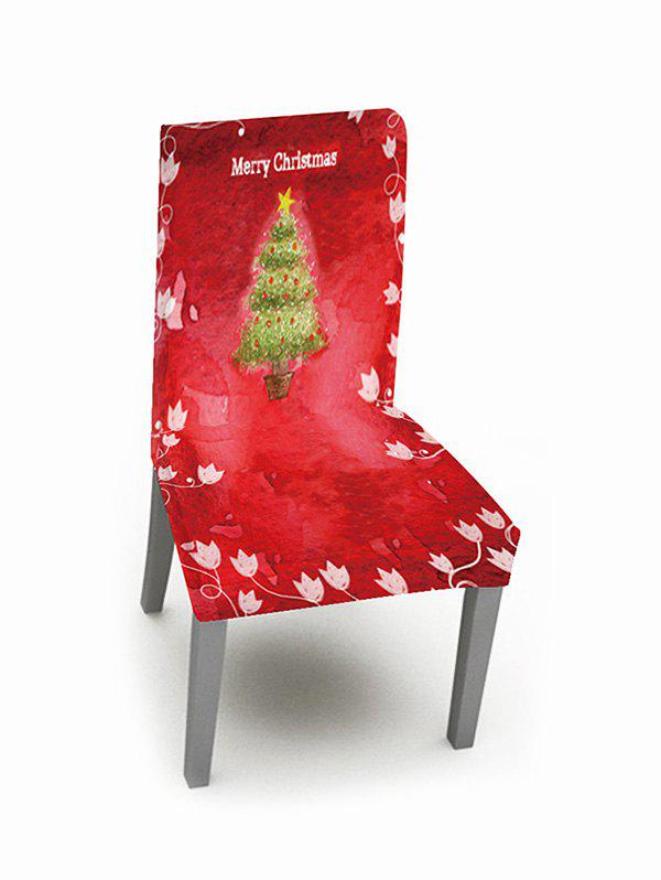 1PCS Merry Christmas Tree Elastic Chair Cover - multicolor W16 X L24 INCH