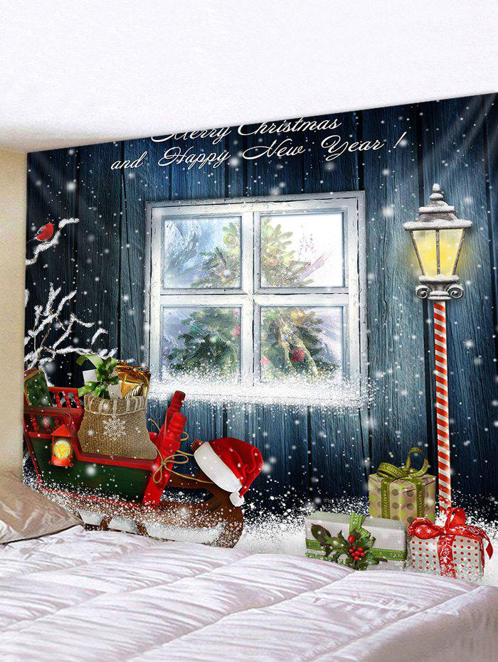 Christmas Gift Printed Tapestry - multicolor W59 X L59 INCH