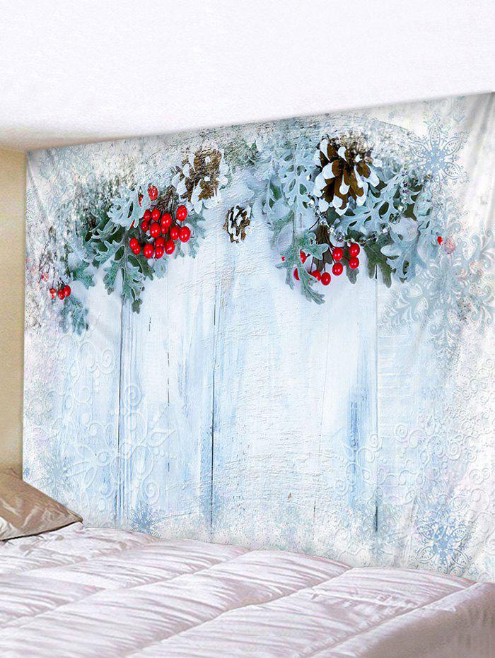 Wooden Printed Tapestry - multicolor W59 X L59 INCH