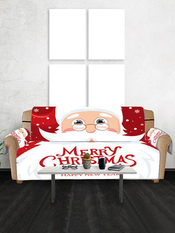 Father Christmas Couch Cover - RED WINE TWO SEATS