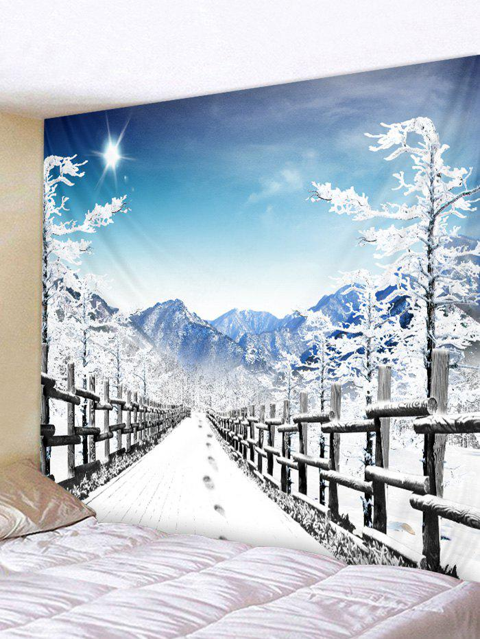 Snow Road Printed Tapestry - BLUE GRAY W79 X L59 INCH