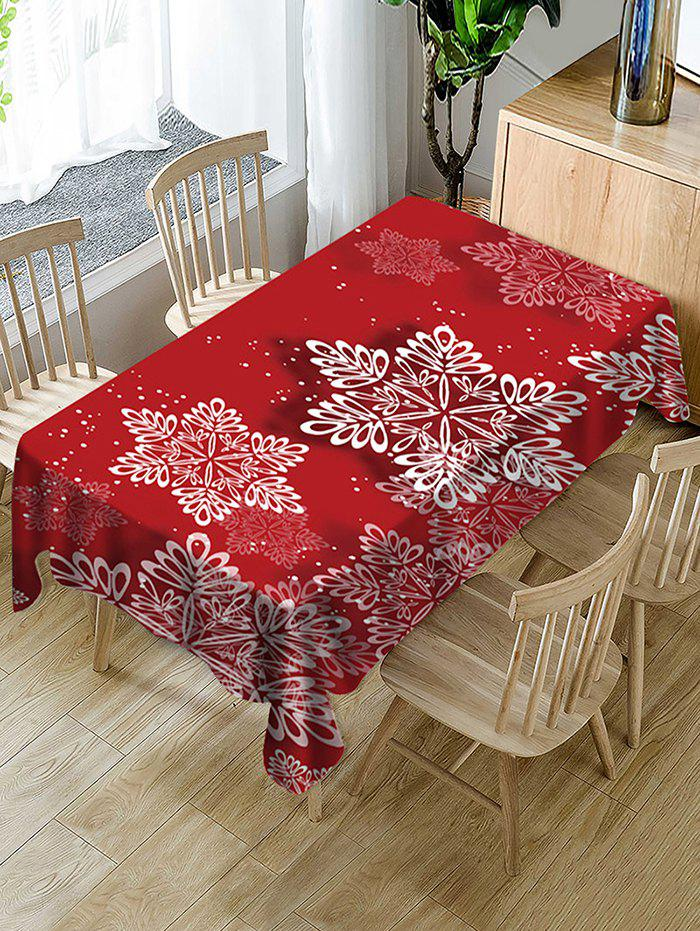 Christmas Snowflake Print Waterproof Fabric Tablecloth - multicolor 55 X 55 INCH