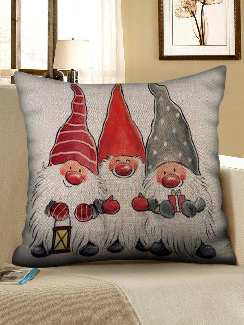 Father Christmas Pattern Pillow Cover - multicolor W18 X L18 INCH