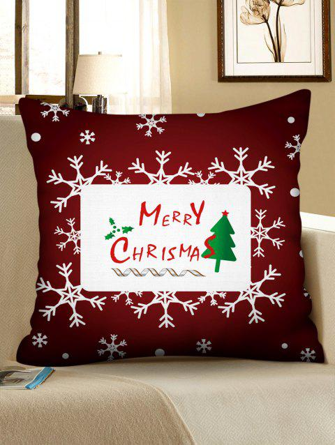 Merry Christmas Tree Snowflake Pattern Pillow Cover - multicolor W22 X L22 INCH