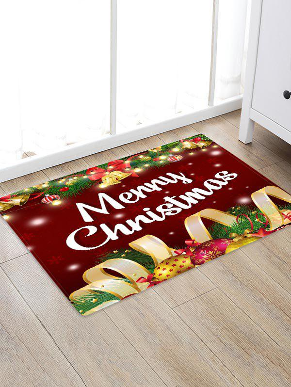 Merry Christmas Bell Floor Rug - multicolor W16 X L24 INCH