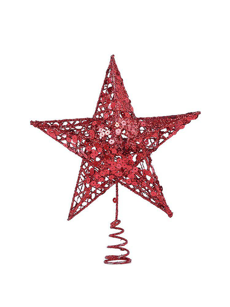 Sequins Star Christmas Party Decoration - TWILIGHT GOLD