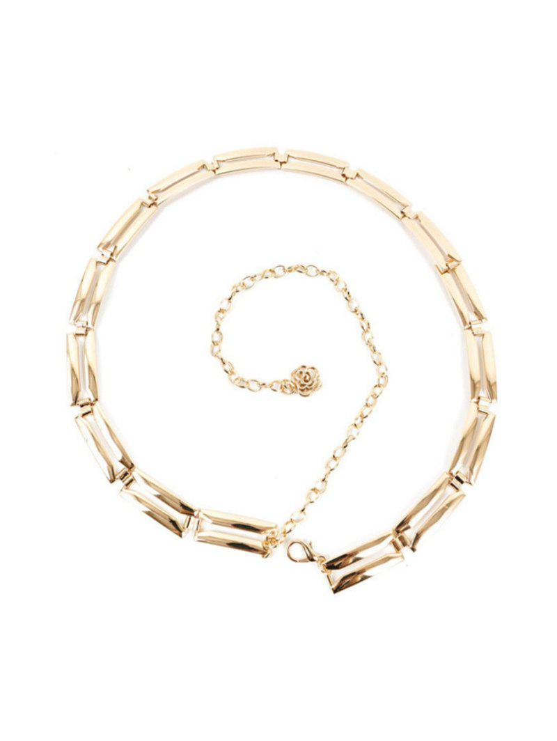 Geometric Flower Hollow Out Waist Chain - GOLD