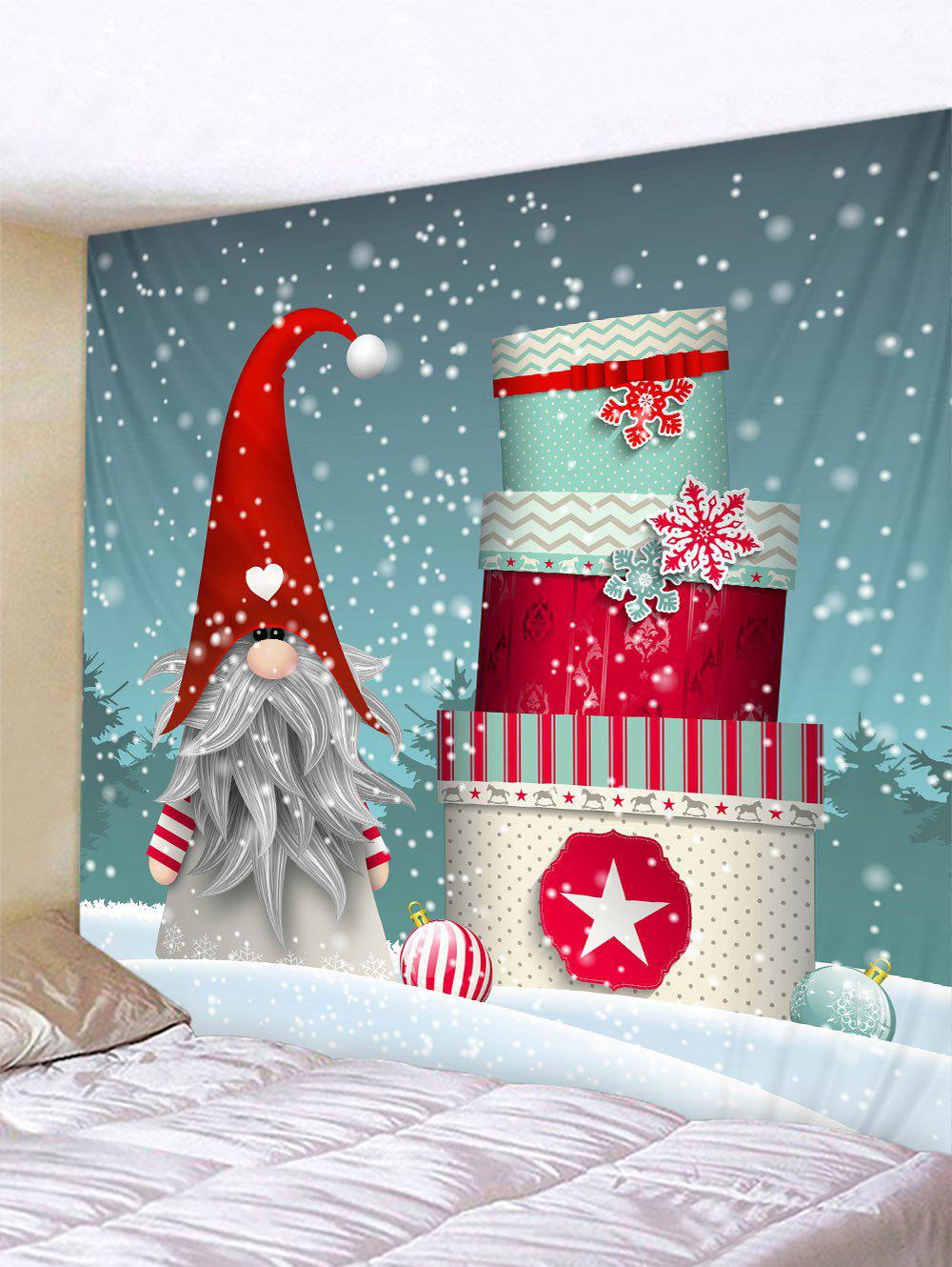 Father Christmas Gift Printed Tapestry - multicolor W79 X L71 INCH