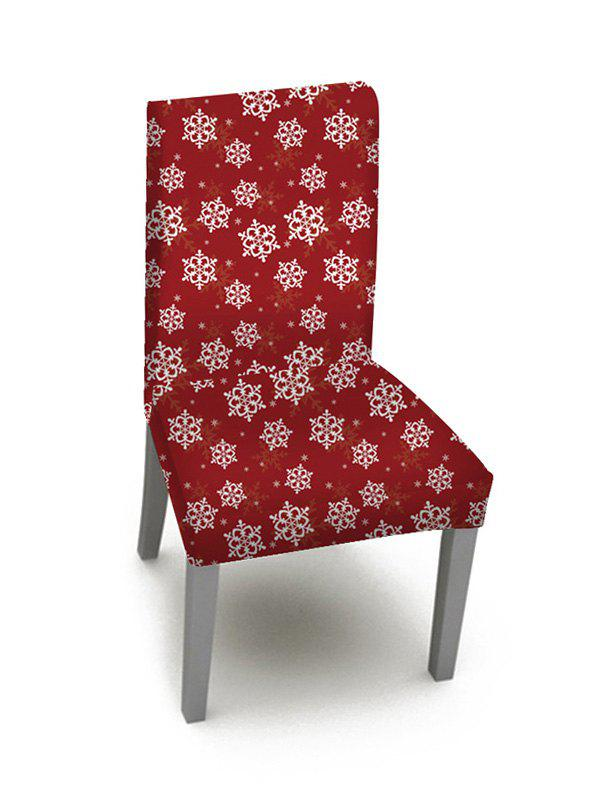 1PCS Christmas Snowflake Pattern Elastic Chair Cover - multicolor W16 X L24 INCH