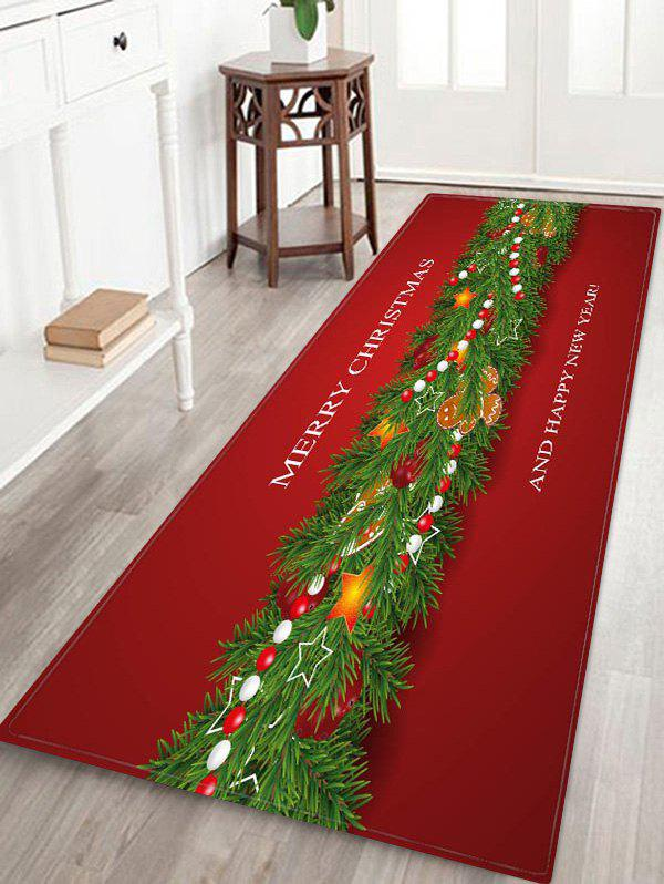 Merry Christmas New Year Floor Rug - multicolor W24 X L71 INCH