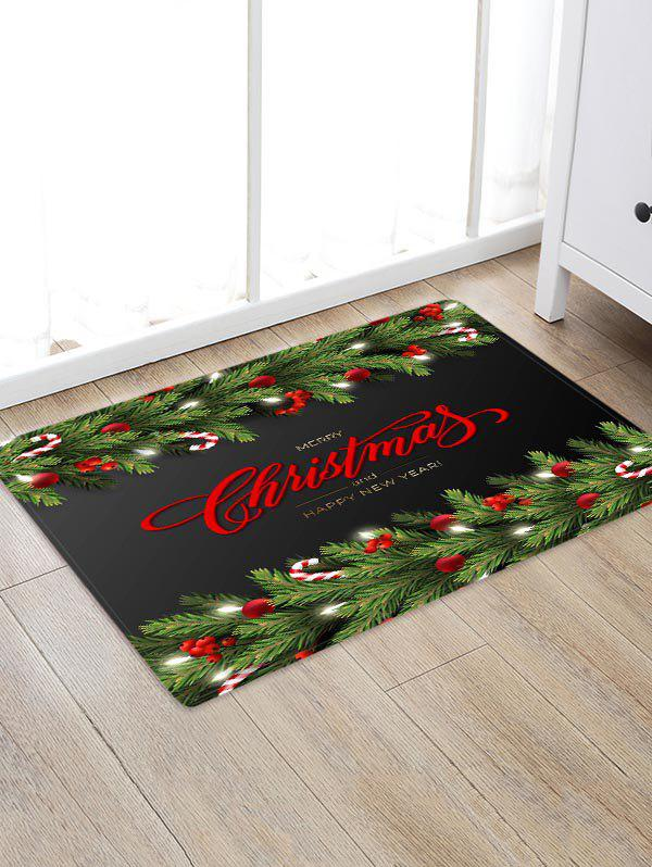Merry Christmas Grass Floor Rug - multicolor W24 X L35.5 INCH