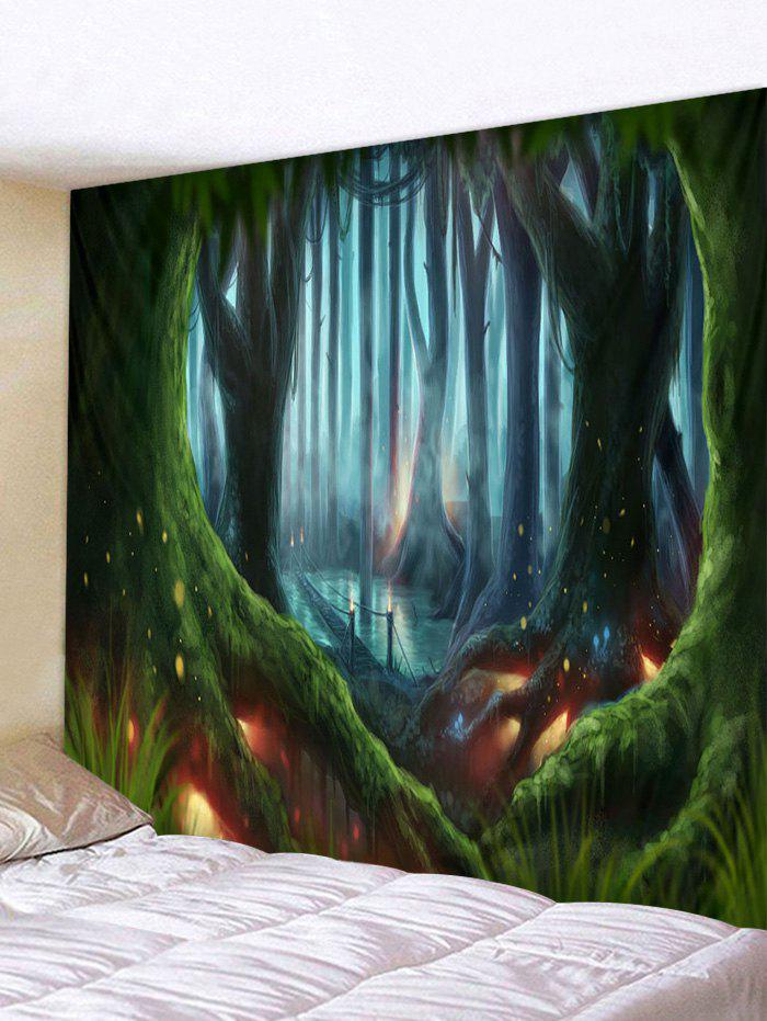 Magic Forest Printed Tapestry - multicolor W91 X L71 INCH