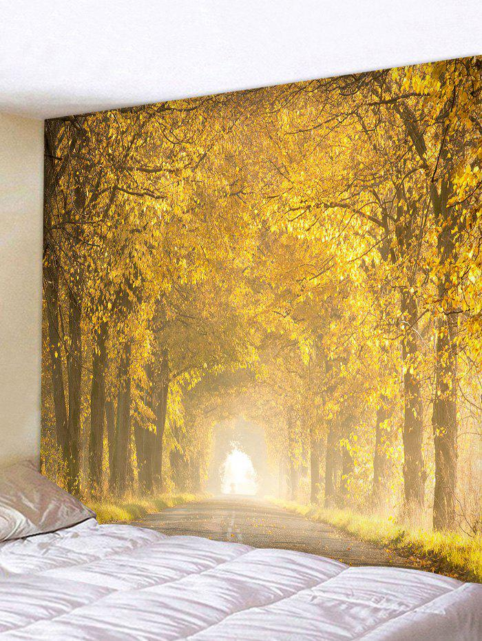 Antumn Leaves Printed Tapestry - multicolor W79 X L71 INCH